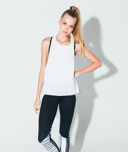 Hero Tank Black/White | Arcadia Movement at Fire and Shine | Womens Tanks