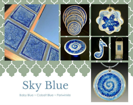 blue glass products