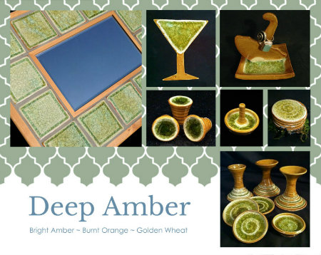 amber glass fused ceramics