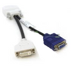 Lenovo Dongle DMS Dule DMS-59 to single VGA and single DVI cable 42Y8183