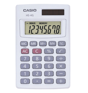 Casio HS 4 Basic Solar Calculator