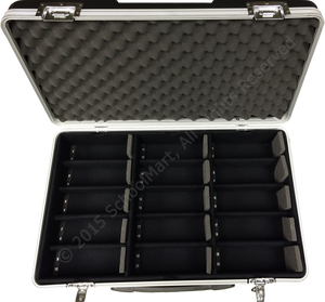 Hard Case Storage for 30 Graphing Calculators with Hard Lined Compartments