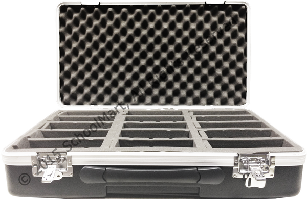 Hard Case Storage for 30 Graphing Calculators with Sturdy Foam Compartments