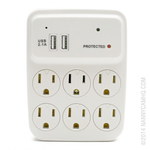AC USB Outlet Hidden Nanny Camera