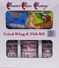 After your prep your fish or pluck your chicken, fry it up in our Famous Creative Cajun Cooking flavor.  The Fried Wing and Fish Kit brings all the flavor you need to take your next party to another level!