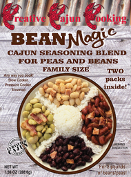 Creative Cajun Cooking's Bean Magic Cajun Seasoning Blend For Peas and Beans