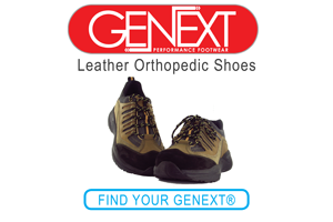 Genext Leather Orthopedic Diabetic Shoes
