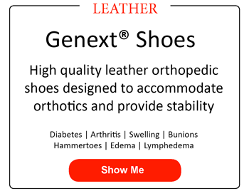 High quality leather orthopedic shoes designed to accommodate orthotics and provide stability