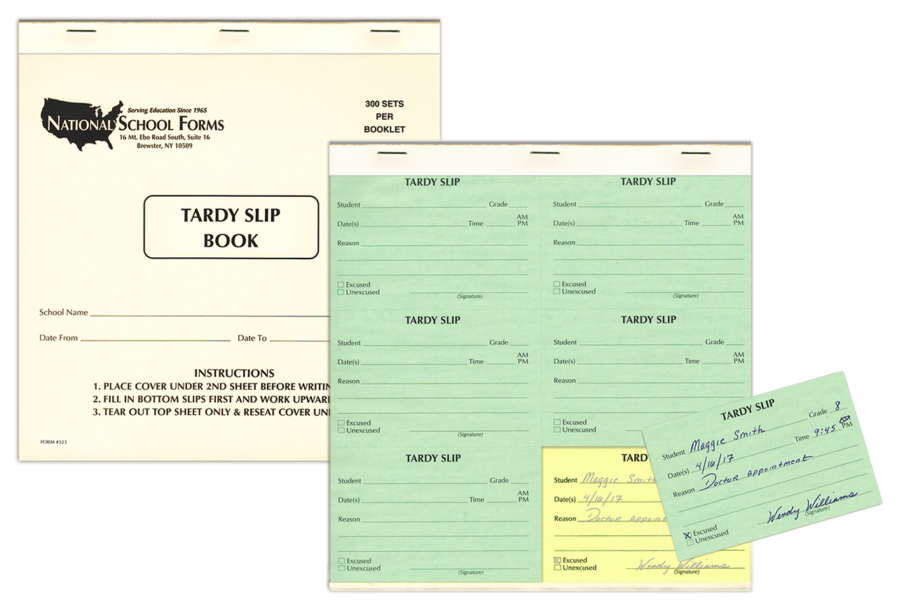 Tardy Slip Booklet (323) 300 Slips/Book