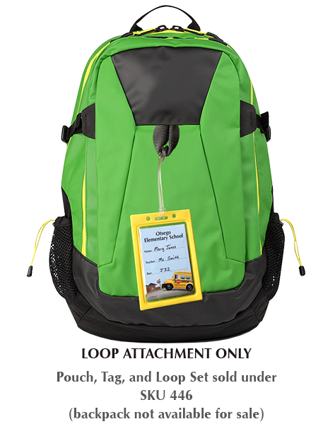 Loop attaches our pouches to student/employee backpack