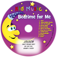 Bedtime for Me Personalized Lullaby Music CD