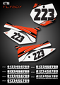 Flyboy Number Plates KTM