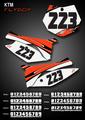 Mini Flyboy Number Plates KTM