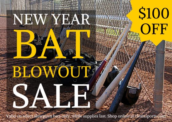January Slowpitch Bat Blowout Sale at Cleats Sports