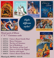 Pre-mixed Assortment of Christmas Cards, 15 Cards