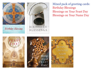 Mixed pack of 10 cards: Birthday, Name Day, & Feast Day