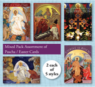 Pre-mixed Assortment of Pascha / Easter Cards, pack of 10 cards