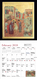 """There are two 11"""" X 12"""" pages for each month, with a large size icon image on the top page, and a calendar page below. A Hole is drilled at the top of the calendar, so that it is easy to hang on your wall."""