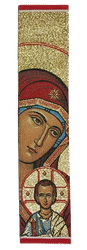 Tapestry bookmark, Theotokos with Christ, red