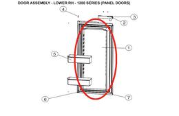 Norcold Lower Right Hand Door 627992 (fits the 1200 model) - panel type door