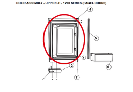 Norcold Upper Left Hand Door 627961 (fits the 1200 model) - panel type door