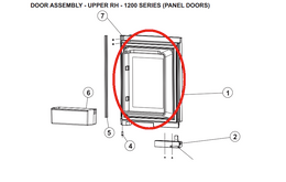 Norcold Upper Right Hand Door 627970 (fits the 1200 model) - panel type door