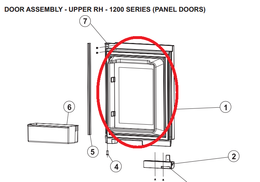 Norcold Upper Right Hand Door 634068 (fits the 1210 model) - stainless steel door