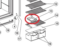 Norcold Cut-Out Shelf Tray 617756 (fits many models) white