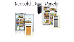 Norcold Lower Door Panel 636217 (fits NX641/ NXA641) black acrylic