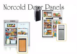 Norcold NXA841 Upper & Lower Door Panel Set (woodgrain oak laminate)