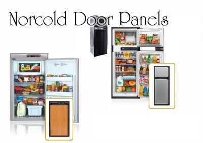 Norcold DE0061 Door Panel Set (brushed aluminum)