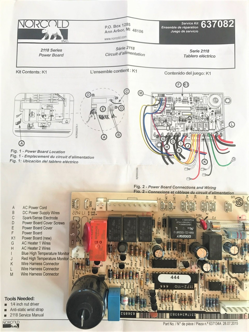 Norcold Power Board 637082  Fits The 2118 Model
