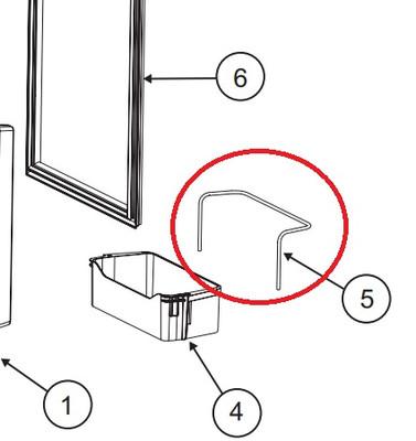 Norcold Door Bin Wire Retainer 635814 (fits the NR740