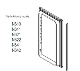Norcold Lower Door 623955 panel door (fits the N611, N621, N641) smooth interior