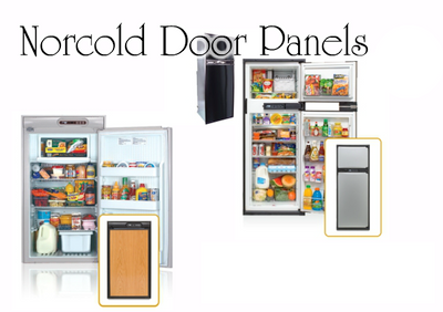 Norcold N300 Door Panel (woodgrain oak laminate)