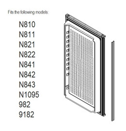 Norcold Lower Door 619631 panel door (fits N811, N821, N841, N1095, 982, 9182) waffle interior