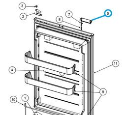 Norcold Door Handle 635636 (fits the NX/ NXA models) LH