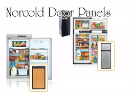 Norcold 1200/ 1210 Complete Door Panel Set (brushed aluminum)