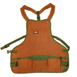 Brown Gardening Apron With Multiple Pockets.