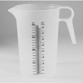 Get an accurate pour every time with this 64 ounce Accu-Pour Chemical Measuring Container (2 Liter, #PM80064)