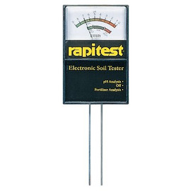 Knowing what your pH is is the first step toward fixing your soil for the plants you want to grow. Try this Rapitest electronic soil tester. (#1860)