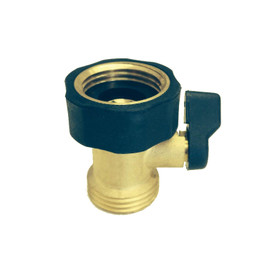 Take control of you water at any point with this Gilmour single garden hose shut-off valve,in brass (#03V)