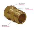 Cut down on kinks in the hose with the Dramm brass hose swivel.