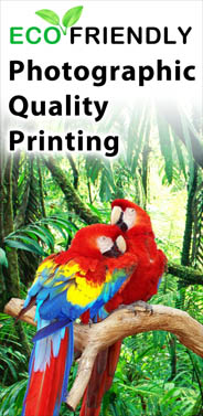 We Print With The Enviorment In Mind!