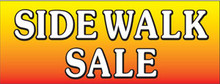 Sidewalk Sale with gradient background banner