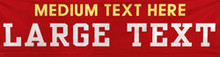 Text Only 2 lines medium and large font banner
