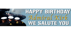 Happy Birthday naval salute banner