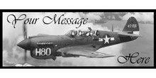 Your Message vintage plane banner