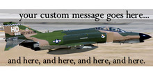 Your Custom Message Goes Here and Here, and Here and Here banner