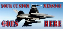Your Custom Message Goes Here with jet banner